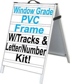 """53/"""" x 29/"""" WIND FRAME Letter Track Sandwich Board Sidewalk Sign w # /& Letters"""