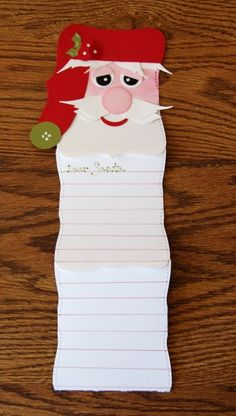Stampin' Up! Top Note Rachel Barnes Santa Letter