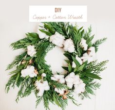 DIY Copper & Cotton Wreath
