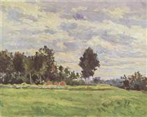 Landscape in the Ile de France - Paul Cezanne