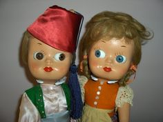 "Pair 14' ""Dedo"" Googly Dolls Made in Italy All Original Ex. Condition from ~ PAULA'S DOLL MEMORIES ~ found @Doll Shops United http://www.dollshopsunited.com/stores/jazzie2/items/1279937/Pair-14-Dedo-Googly-Dolls-Made-in-Italy-All-Original-Ex #dollshopsunited"