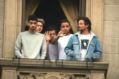 One Direction at hotel in Milan yesterday