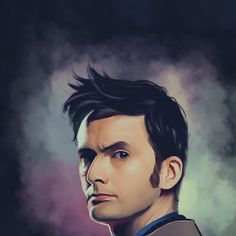 David Tennant - Doctor Who Art Print by KanaHyde Doctor Who Gifts, Doctor Who 10, Doctor Who Fan Art, 10th Doctor, Scottish Accent, David Tennant Doctor Who, John Smith, Cool Paintings, Dr Who