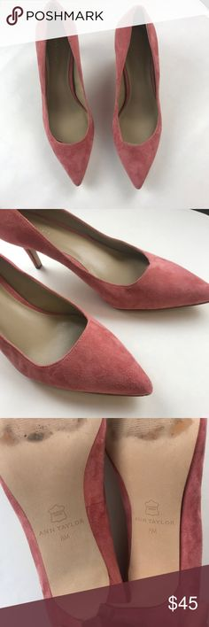 69e92fb2c1d Ann Taylor Eryn Kitten Suede Heel Worn once! Condition  Pre-Owned. Good