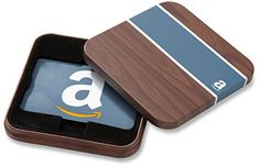 Amazoncom Gift Card for Any Amount in a Brown  Blue Tin Classic Blue Card Design *** Find out more about the great product at the image link.Note:It is affiliate link to Amazon.