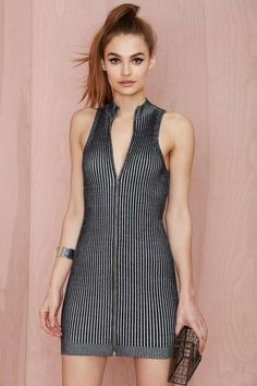 Nasty Gal Fool for the City Ribbed Dress - Going Out | Body-Con | Dresses | | Day | Basic | Clothes |