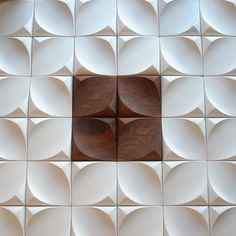 Custom made 'Dune' tiles in wood, plaster or concrete, by Urban Product. Love these!