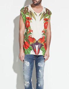 PARROT PRINT T-SHIRT - T-shirts - Man - ZARA United States