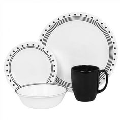 Livingware 16Pc Set - Corelle Dinnerware at Walmart .  Love that these dishes don't chip