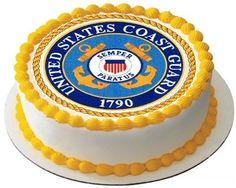COAST GUARD Round Cake Topper edible  decoration 902-C. $9.99, via Etsy.