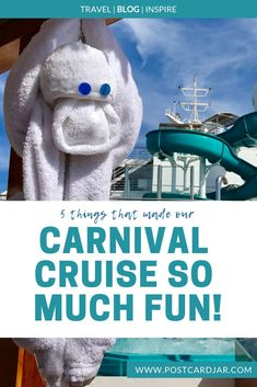 Carnival says they have the fun ships, and they sure know how to serve up the entertainment! Here's a list of 5 things that made our first Carnival cruise fun! #cruising #cruise #choosecruise