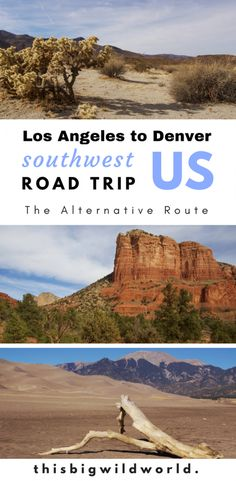 An alternative road trip itinerary from Los Angeles to Denver through the Southwest US! #roadtrip #southwestusa #nationalparks