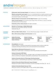 resume object examples