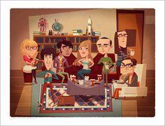 Tributo Ilustrado a The Big Bang Theory