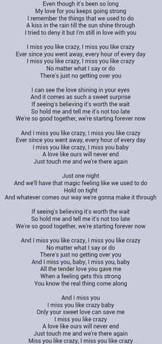 Lirik i miss you like crazy