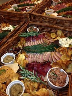 Baskets of Bolsover smoked duck, pork rillettes from Moss Valley meat and Bresola