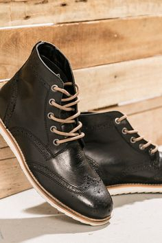 Crevo Boardwalk boots are $75 at JackThreads. These boots are perfect. The wingtip detailing is dressy, but a sawtooth sole gives them an edge so you can wear them every day. Pair them with jeans & chinos for the win.