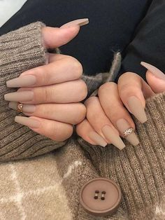 Classy Nails, Stylish Nails, Trendy Nails, Fall Acrylic Nails, Acrylic Nail Designs, Autumn Nails, Fall Nail Designs, Nagel Bling, Nagellack Design