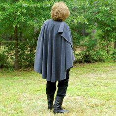 Charcoal Gray Anti Pill Fleece Wrap, Poncho, Shawl, Cape or  Ruana--One Size Fits Most by YoungbearDesigns on Etsy