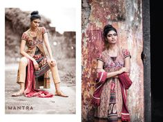 Indian by Choice, a collage of Indian weaves and prints.  Model: Archana Akil Kumar, Photography: Bindaas Thankam Shots-Out Photography, Make-up: Joe Koratty