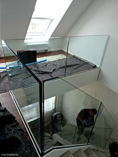 Balcony Glass Design, Glass Balcony Railing, Balcony Railing Design, Glass Stairs, Staircase Design, Glass Handrail, Glass Balustrade, Loft Stairs, House Stairs