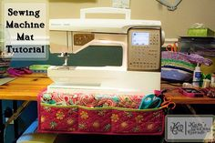 Sewing machine mat- I could make it with a quilted place mat