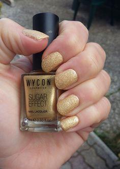 Smalto Wycon Sugar Effect tonalità oro glitter – Swatch