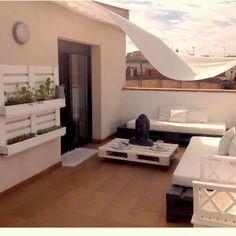 Sácale el máximo partido a tu terraza coneste genial tip para decorar terrazas. #decoración #terrazas