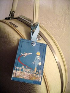 so cute. if i still traveled alot..... pan am luggage tag $9 LeaseAPenny on etsy