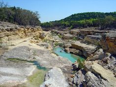 Canyon Lake Gorge in Canyon Lake, TX- Dinosaur tracks! Hiking In Texas, Texas Roadtrip, Texas Travel, Hiking Trails, Best Places To Travel, Vacation Places, Vacation Spots, Places To See, Vacations