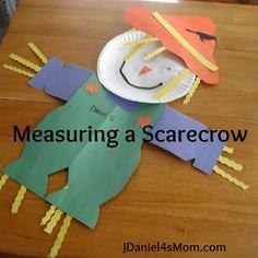 Lonely Scarecrow Measuring Activity, book, haystack snack