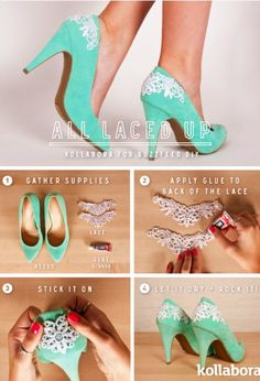 Easy DIY way to amp up your wedding pumps.