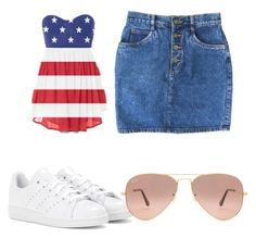 """""""4th of July Fun"""" by songbird1413 ❤ liked on Polyvore featuring adidas and Ray-Ban"""