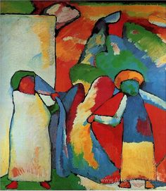"terminusantequem: "" Wassily Kandinsky (Russian, 1866-1944) - Improvisation 6 (African) (1909) """