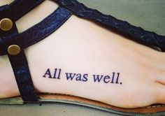 """""""The scar had not pained Harry for nineteen years. All was well."""" My new and first tattoo!!"""