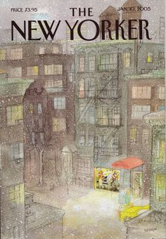 New Yorker cover by J.J Sempe | From the Jan. 10, 2005 issue of The New Yorker