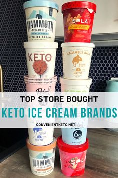 Our DETAILED guide and review of the top KETO ice cream store bought options on the market! We go through all the low carb ice cream store bought brands including video reviews. We provide easy to use macro tables for ALL the keto ice creams brands! Keeping keto easy!! Keto, atkins, low carb, and diabetic friendly! #ketoicecreameasy #ketoicecreamowcarb #ketoicecreambrands #ketoicecreamstorebought #lowcarbicecreamstorebought #ketoproducts #lowcarbicecreambr #jantarreceitasceto