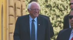 Bernie Sanders meets Pope Francis during visit to Vatican City