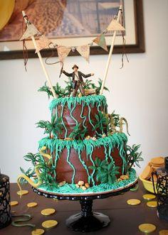 'Indiana Jones' cake Dad Birthday Cakes, Birthday Party Games, Boy Birthday, Birthday Ideas, Indiana Jones Cake, Indiana Jones Birthday Party, Indiana Jones Adventure, Summer Birthday, Disney Cakes