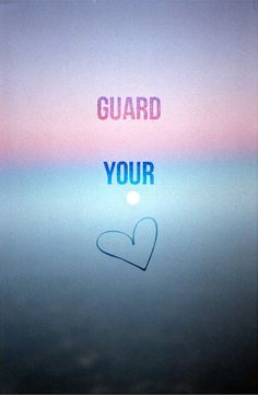 "Above all else guard your heart for it affects everything you do"" (Proverbs 4:23) http://community.bibleseries.tv/"