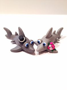 someone buy me this cake topper!! Shark Wedding Cake Topper  Choose Your Colors by topofthecake, $55.00