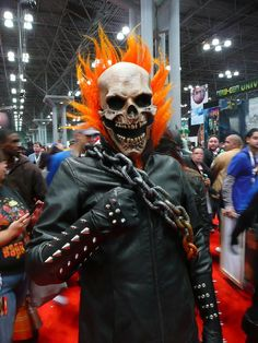 Ghost Rider cosplayer at NYCC 2012