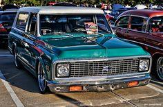 Chevy Blazer. Bag it. Slam it. Make mine Turquoise. Coffee & Cars, Houston Texas.