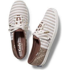 ff820cd0164b Keds Champion Cabana Stripe Glitter ( 55) ❤ liked on Polyvore featuring  shoes