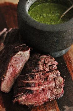 Five Approaches To Economize Transforming Your Kitchen Area This Grilled Flat Iron Steak With Chimichurri Is One Of Those Recipes That You Need To Print And Save. Burly And Rich Steak With A Bright, Herb Sauce. Barbecue Recipes, Steak Recipes, Grilling Recipes, Smoker Recipes, Barbecue Sauce, Sauce Recipes, Steak With Chimichurri Sauce, Flat Iron Steak, Grilled Beef
