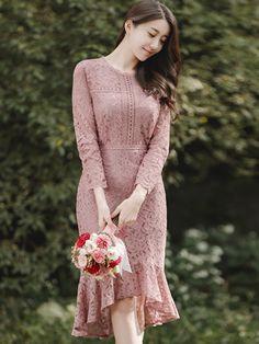 33 ideas dress brokat hijab simple for 2019 Trendy Dresses, Simple Dresses, Elegant Dresses, Beautiful Dresses, Casual Dresses, Fashion Dresses, Lace Dresses, High Low Lace Dress, Short Lace Dress