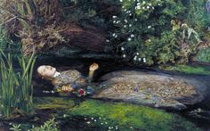 Image result for Millais,Ophelia  1852