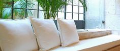 Natural plain-coloured textiles. Fiber, White Throw Pillows, Low Fiber Foods