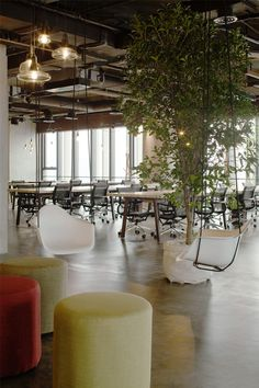LEO headquarters in Shanghai potted plant decor