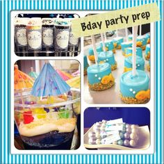 Indoor Pool Party-Seriously cute cakes